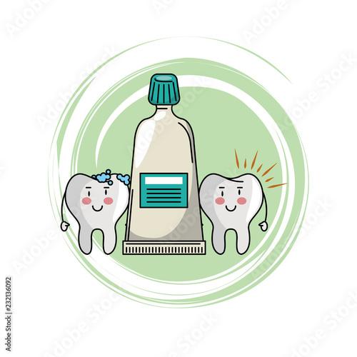 Fotografie, Obraz  dental care cartoon