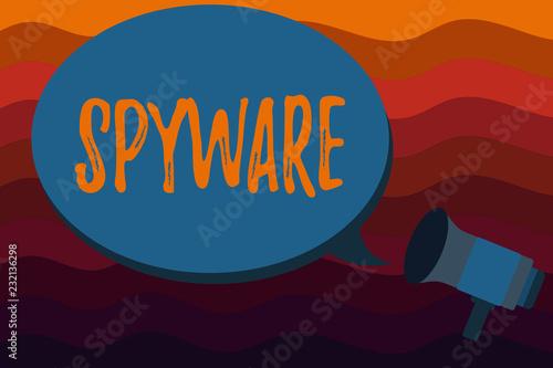 Fotografía  Text sign showing Spyware