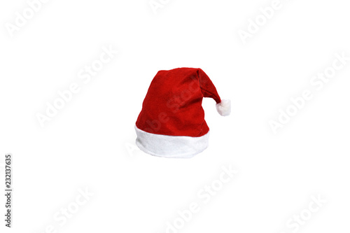 Fotografía  Santa hat , merry christmas festival , isolated white background