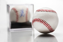Baseball With Display Case Aut...