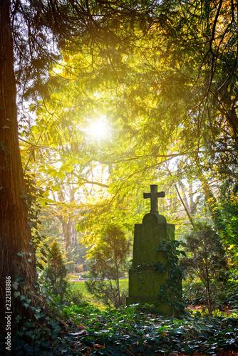 Keuken foto achterwand Begraafplaats Friedhofskreuz