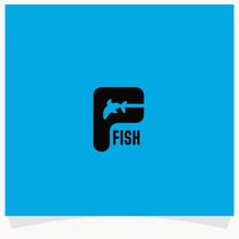 Letter F Logo, Fish Logo Designs Template