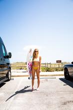 Portrait Of A Surfer Girl