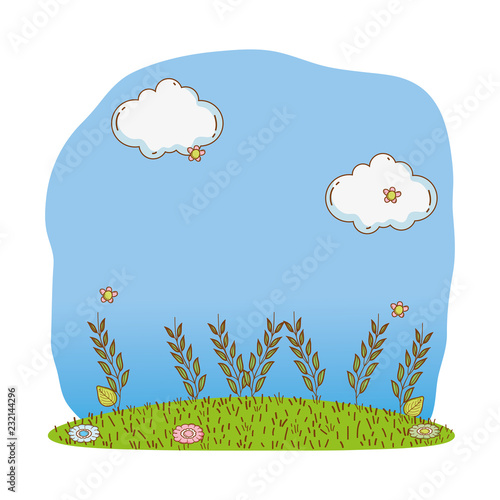 Foto  bushes grass cute cartoon outdoors