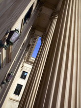 Courthouse Columns And Light F...