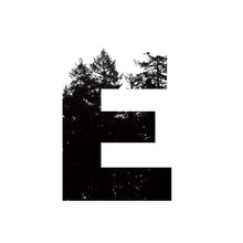 Letter E Hipster Wilderness Fo...