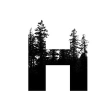 Letter H Hipster Wilderness Fo...