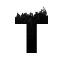 Letter T Hipster Wilderness Fo...