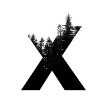 Letter X Hipster Wilderness Fo...