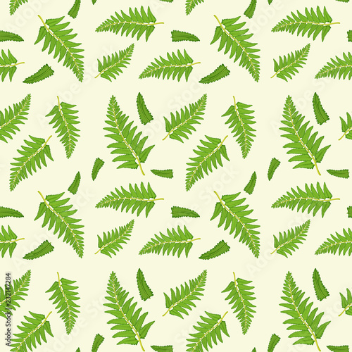 Staande foto Kids Fern leaf seamless pattern