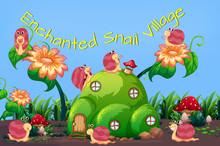 Enchanted Snail Village Template