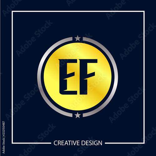 Initial Letter EF Logo Template Design Vector Illustration Fototapete