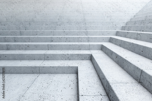 Obraz na płótnie empty stairs in the city
