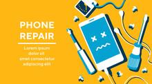 Phone Repair Fix Poster Banner...