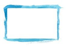 Blue Watercolor Frame Border