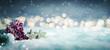 canvas print picture - winterlich weihnachtlicher Hintergrund im Schnee