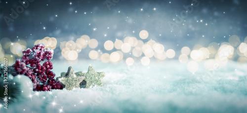 Pinturas sobre lienzo  winterlich weihnachtlicher Hintergrund im Schnee