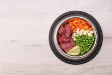 Bowl With Organic Dog Food On ...