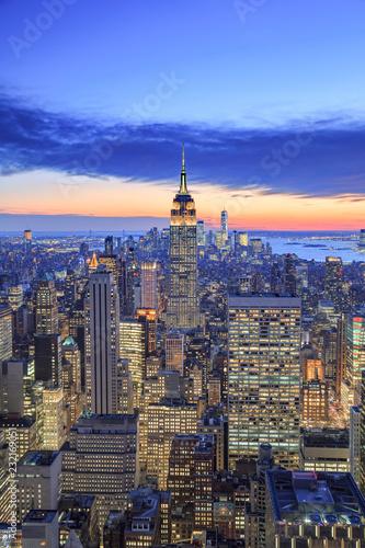 Foto Murales Usa, New York City, Manhattan, Midtown, Rockefeller Center, Top of the Rock Observatory
