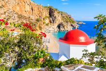 Typical Greek Chapel Overlooki...