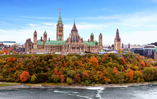 Parliament Hill In Fall, Ottaw...