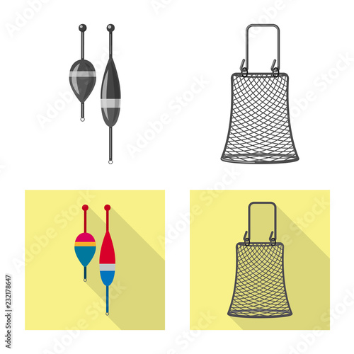 Fotografie, Obraz  Isolated object of fish and fishing icon