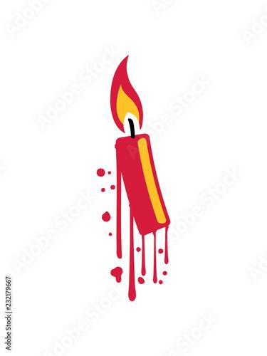 Tropfen Graffiti Spray Flamme Feuer Kerze Wachs Brennen