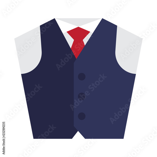 Fotografía  Waistcoat flat icon on isolated white transparent background.