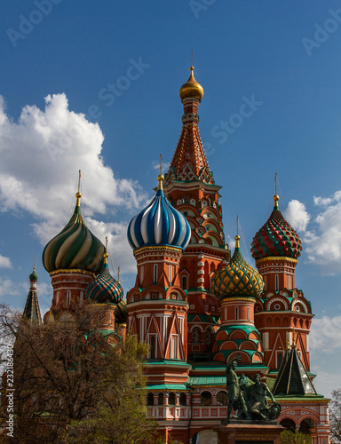 Fotografie, Obraz  View of the St Basil's Cathedral from Vasilevsky Descent in Moscow