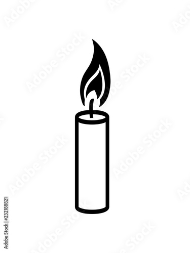 Schwarz Cool Flamme Feuer Kerze Wachs Brennen Dekorativ Design