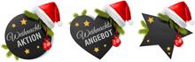 Weihnachts Angebot Aktion Button Set
