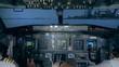 View of a flight simulator, close up.