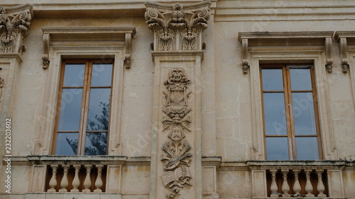 Foto op Canvas Theater City of Noto. Province of Syracuse, Sicily. Ppart of the ornamented facade of Teatro Comunale