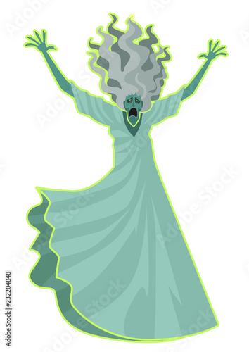 banshee ghost female flying Wallpaper Mural