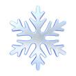 canvas print picture - Blue simple snowflake 3D