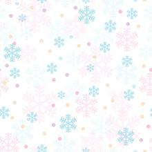 Pink Blue Christmas Snowflakes...