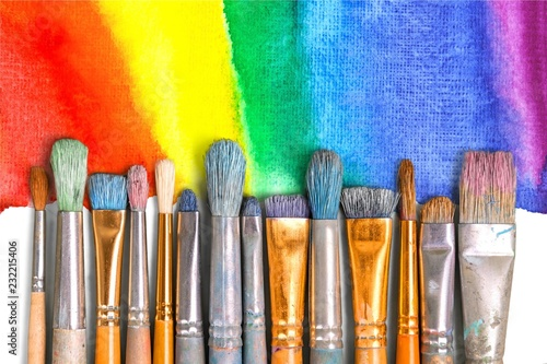 Fototapeta Paintbrush art paint creativity craft backgrounds exhibition obraz na płótnie