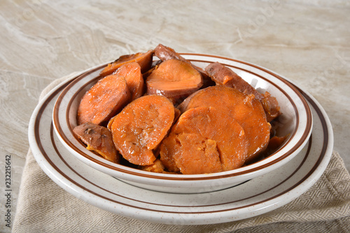 Bowl of candied yams
