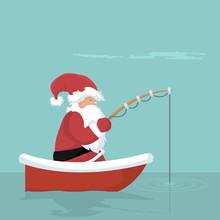 Christmas Card Of Santa Claus ...