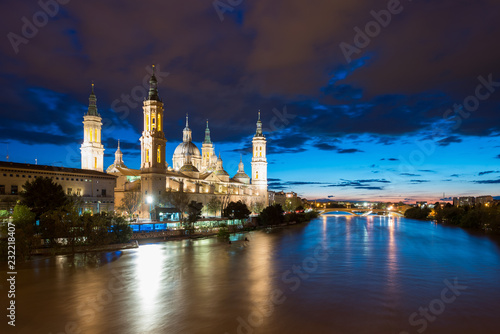 Cathedral Basilica of Our Lady of the Pillar, Zaragoza the capital city of of Aragon, Spain.
