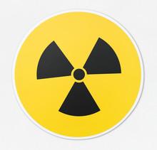 Radioactive Icon In White Background