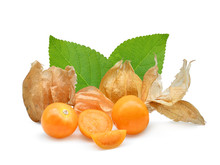 Cape Gooseberry Or Physalis Isolated On White Background