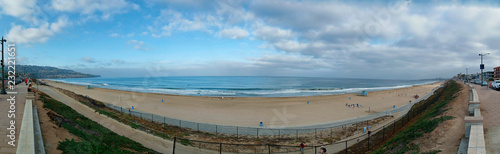 Panorama of the south Los Angeles coastline from the esplanade in Redondo Beach.