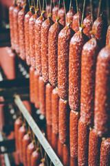 Fototapeta sausage meat production