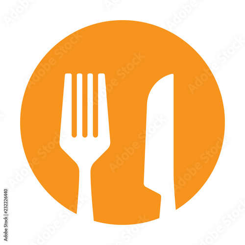 Cuadros en Lienzo fork and knife icon vector