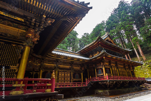 Spoed Foto op Canvas Asia land Taiyuin temple at Nikko world heritage, Japan.