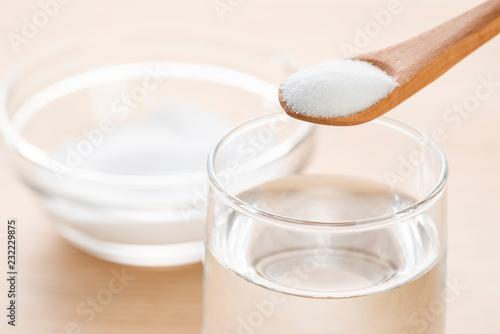 クエン酸とグラスの水 Canvas Print
