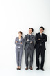 portrait of asian businessgroup on white background
