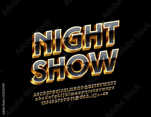 Photo  Luxury Logo with text Night Show