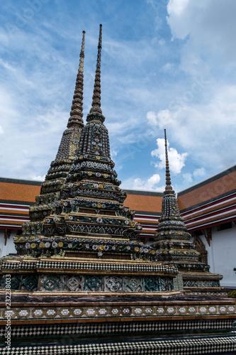 old temple and stupa in Bangkok, Thailand (Wat Pho)